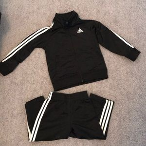 ADIDAS track suit for toddler. 24 months. Blk/Wht